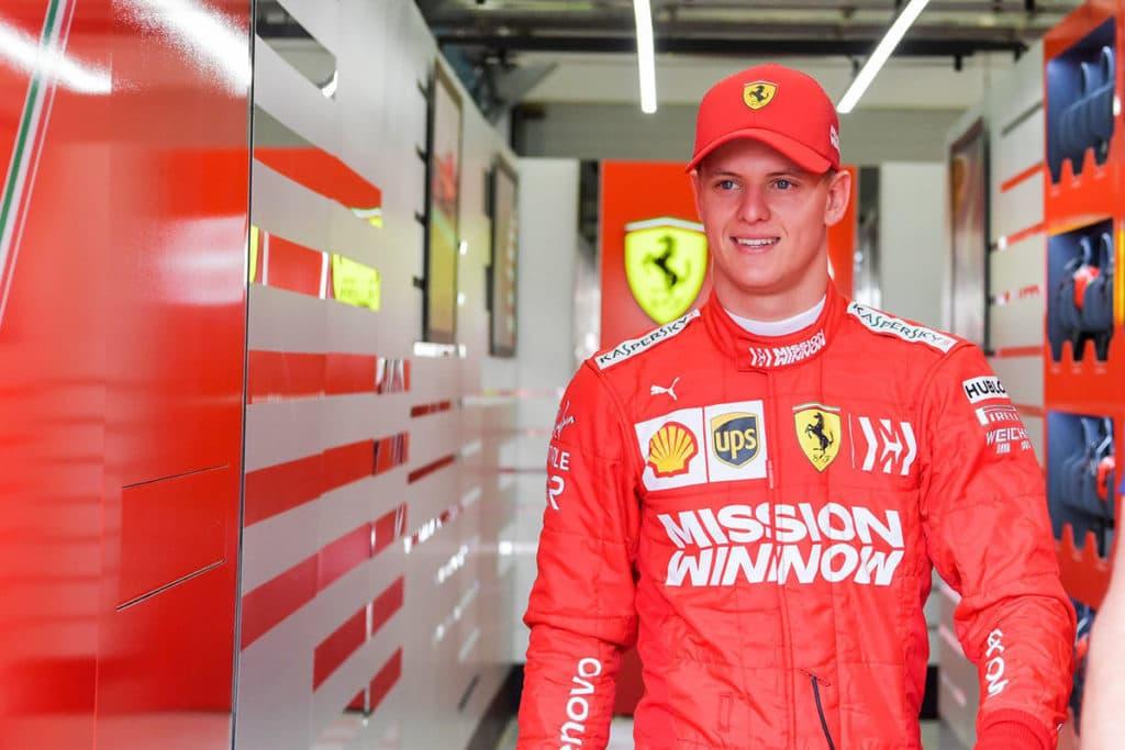 Mick Schumachers Formel-1-Debüt im Ferrari. Credit: Ferrari