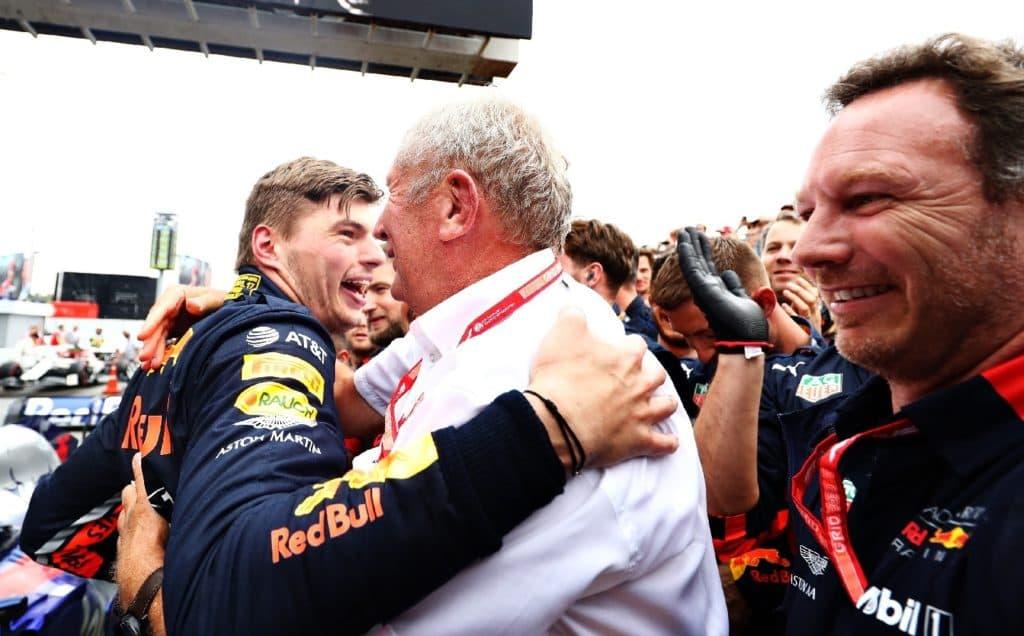 Verstappen Marko Celebrating