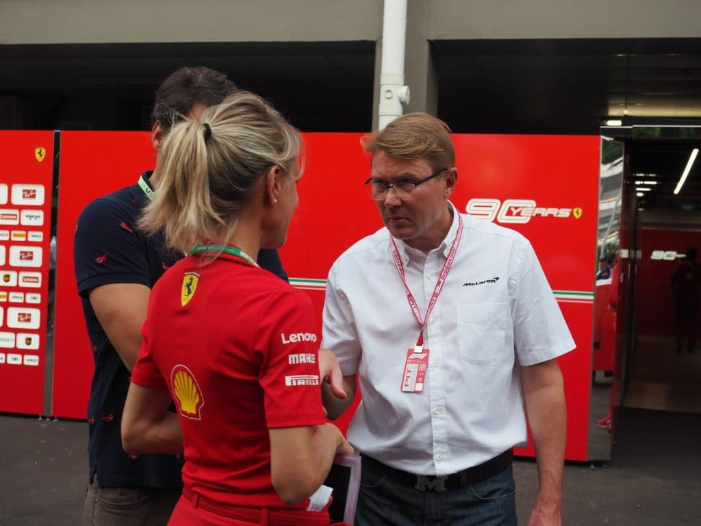 Hakkinen and Ferrari Singapore 2019