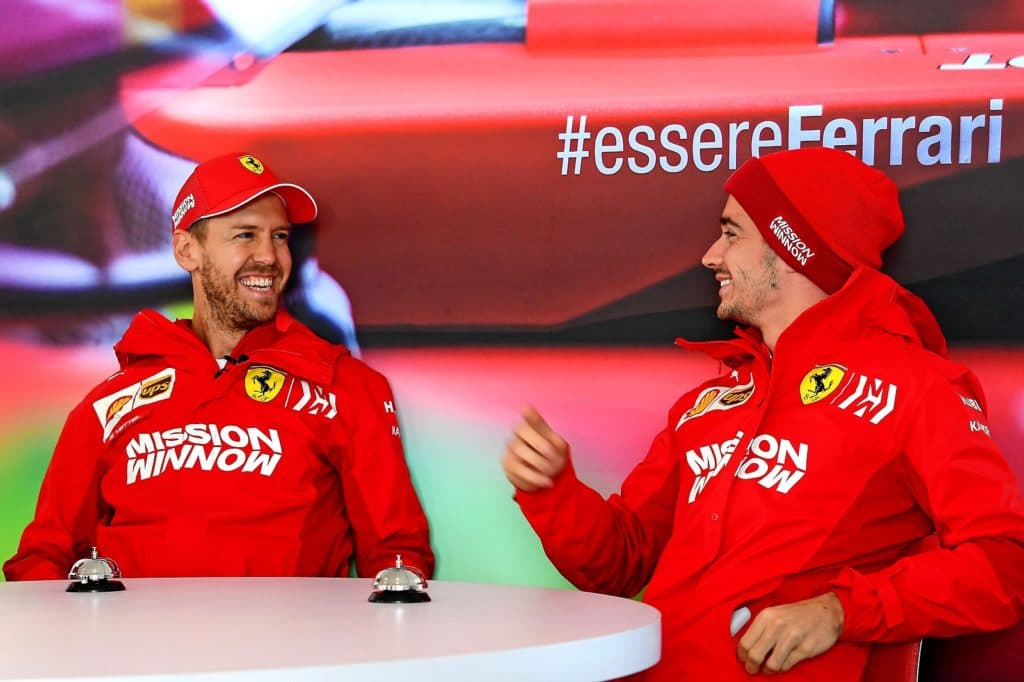 Vettel and Leclerc Austin 2019