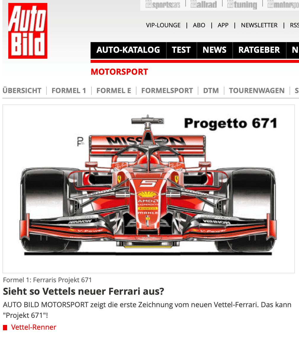 AUTO BILD zeigt Vettels neuen Ferrari