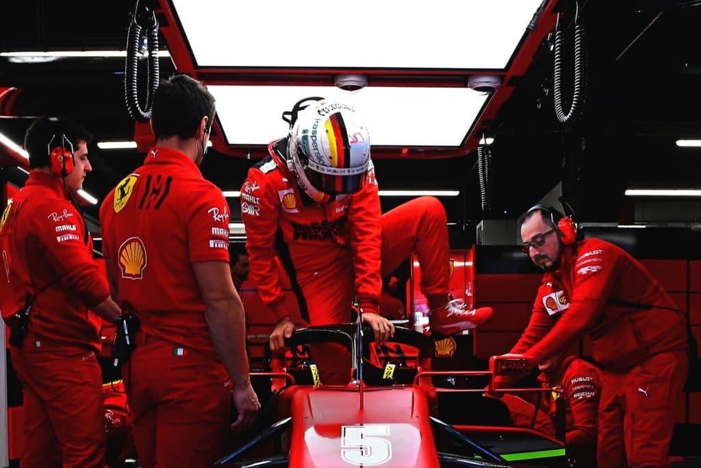Vettel Ferrari Barcelona