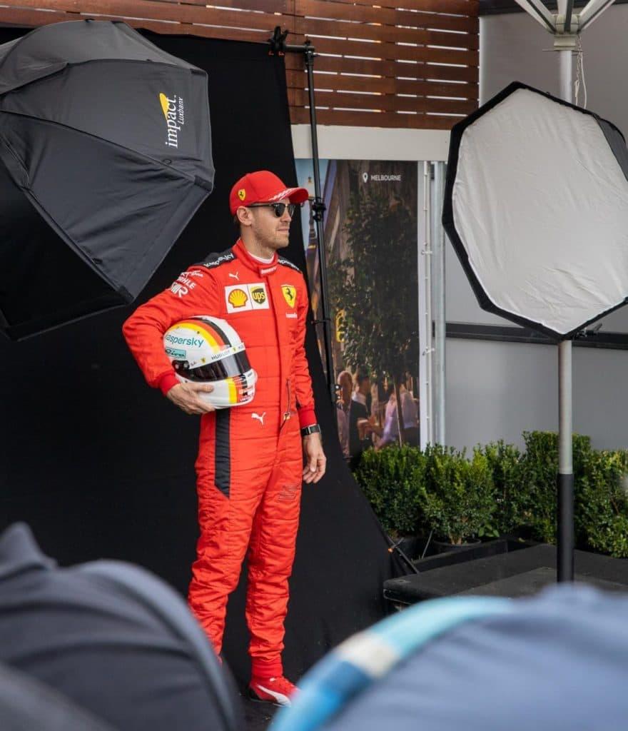 Sebastian Vettel Melbourne. Credit: F1-Insider.com