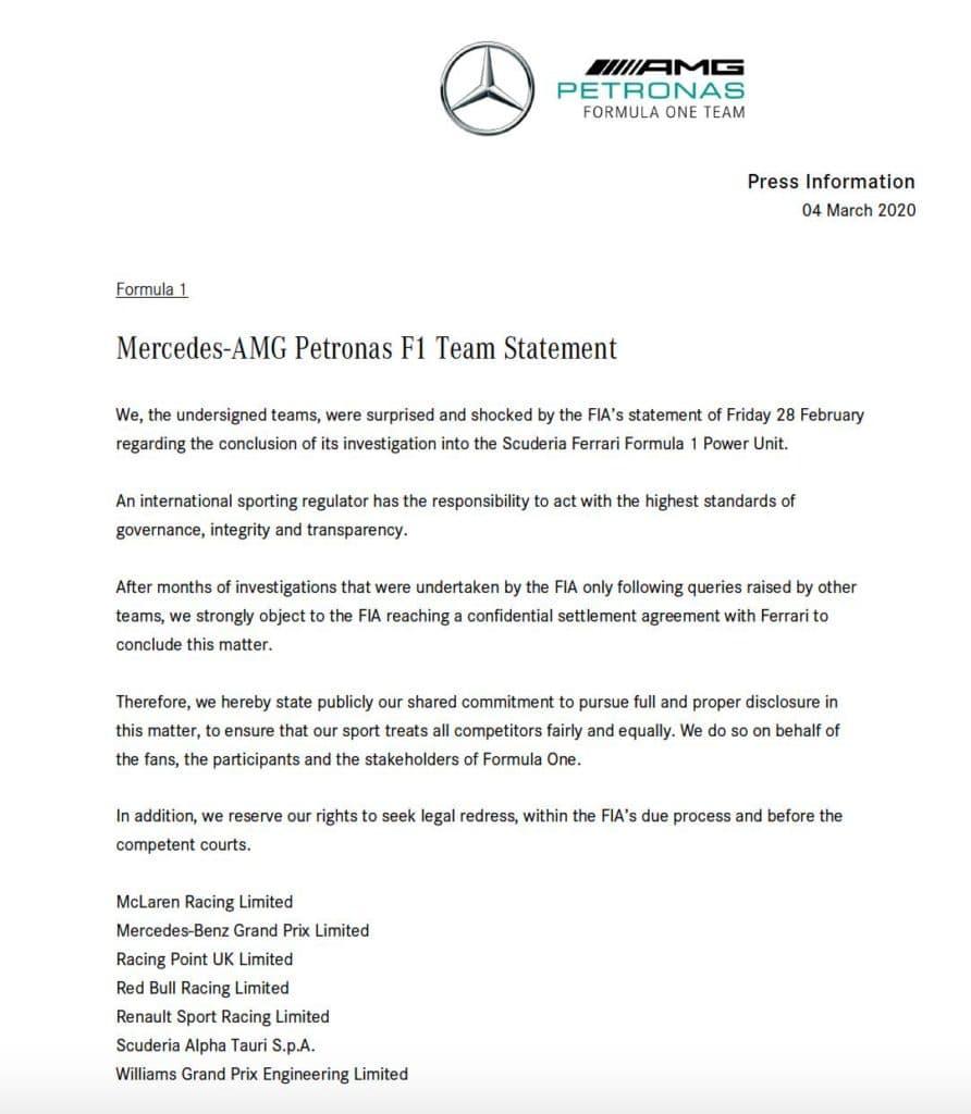Teams Verbrüdern Sich Gegen Fia Und Ferrari F1 Insider Com