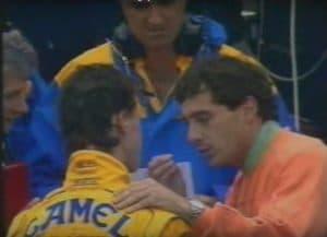 Schumi, Briatore, Senna in Magny Cours 1992