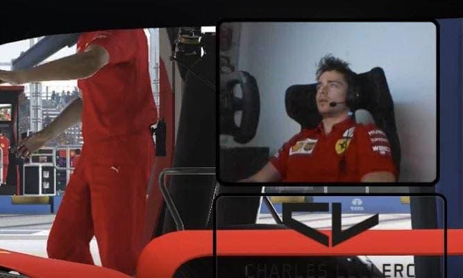Leclerc beim Simracing