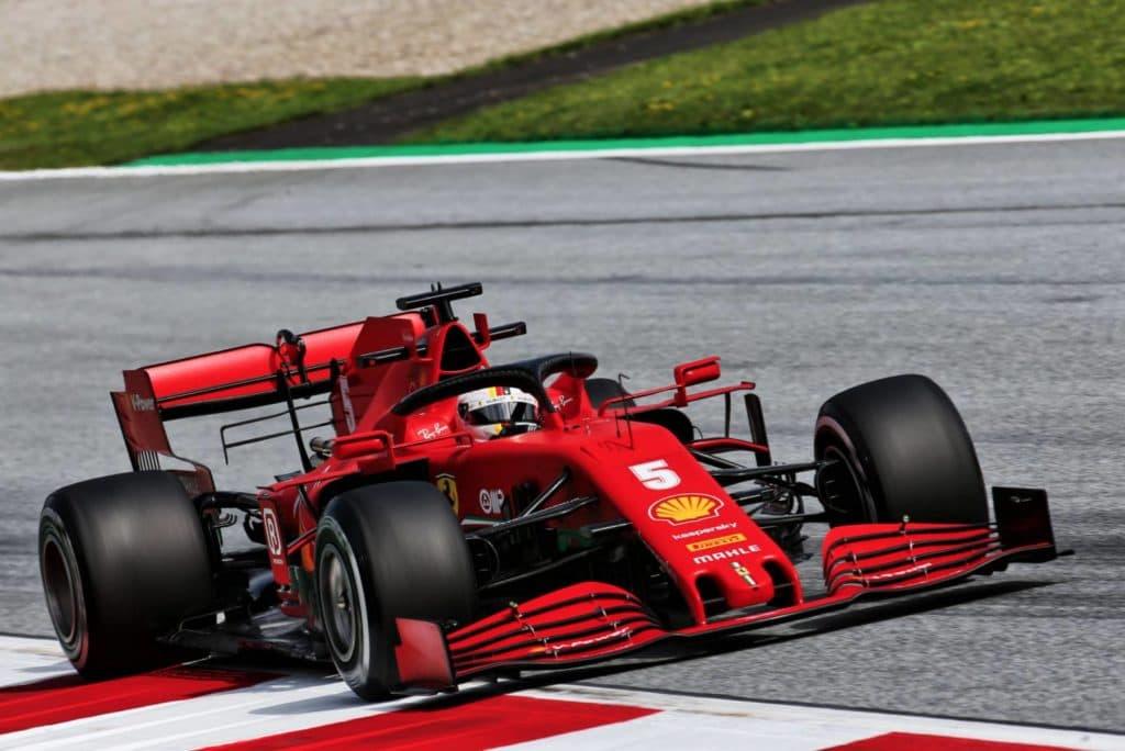 Sebastian Vettel Ferrari in Spielberg
