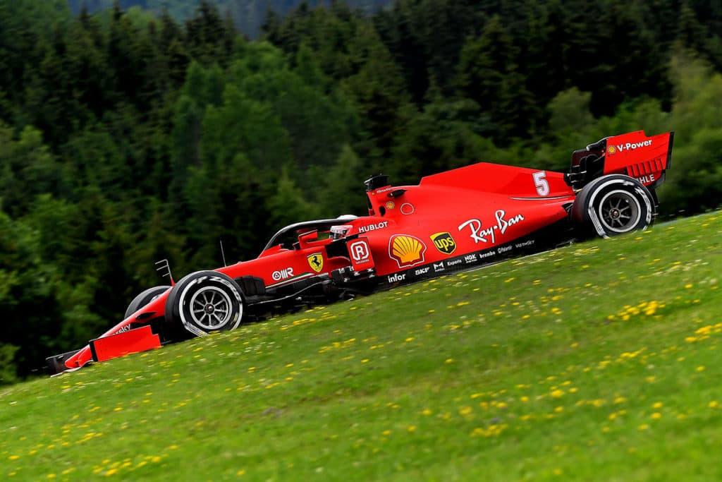 Vettel Ferrari Österreich. Credit: Ferrari