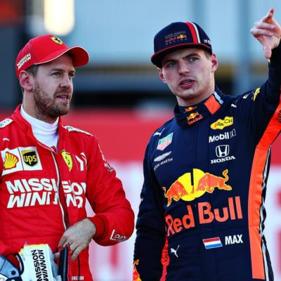 Vettel und Verstappen. Credit: D. Istitene/Getty Images/Red Bull Content Pool