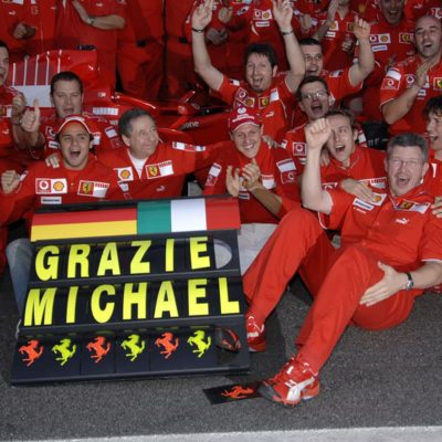 Michael Schumacher und Ferrari 2006. Credit: Ferrari