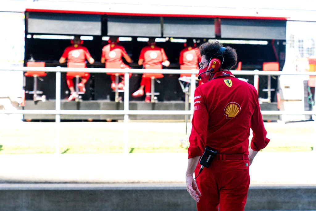 Ferrari Teamchef Mattia Binotto Credit: @Scuderia Ferrari Press Office