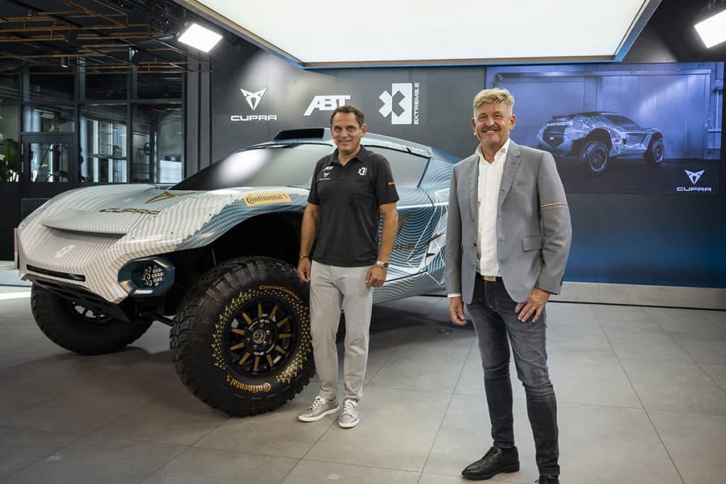 Abt hat in Hamburg Mattias Ekström und Cupra als Partner für die neue Extreme E präsentiert