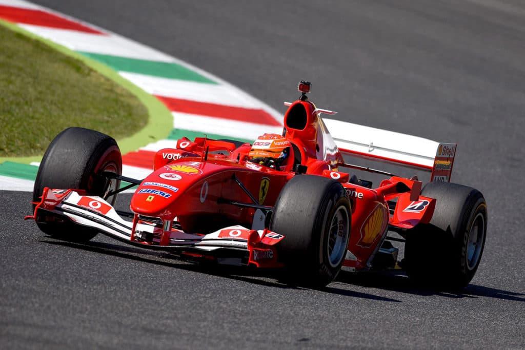 Mick Schumacher in Schumis F2004 Credit: Ferrari