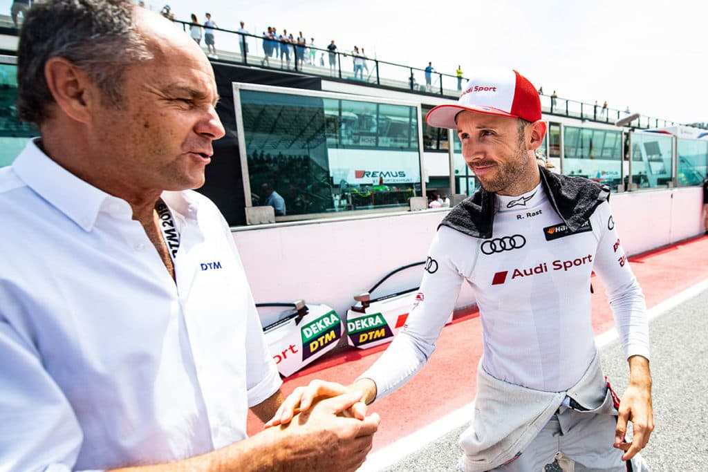 Gerhard Berger, René Rast Credit: Audi