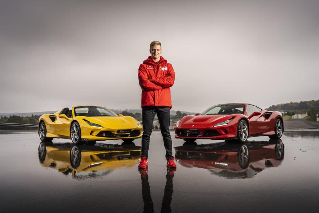 Mick Schumacher Ferrari F8. Credit: Ferrari