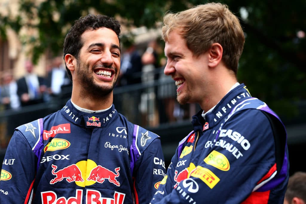 Vettel and Ricciardo
