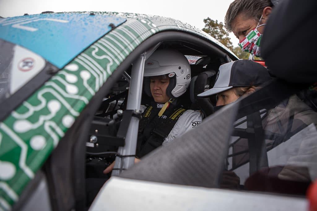 Nico Rosberg im Audi R8 mit Steer by Wire