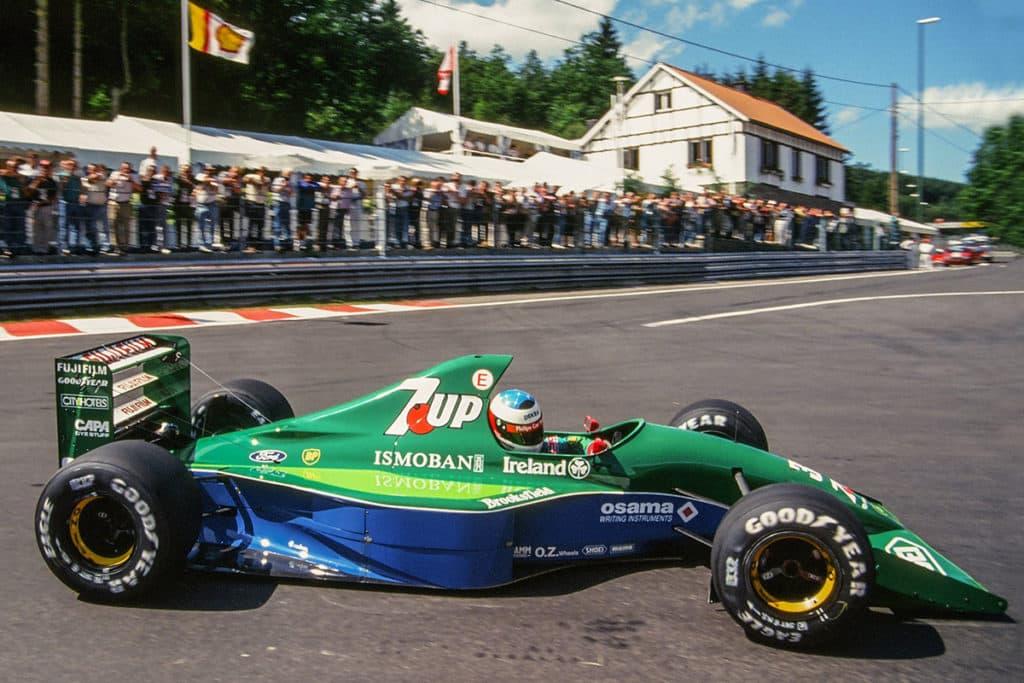 Michael Schumacher in Spa 1991 Credit: Twitter/F1