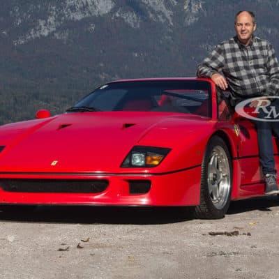 Gerhard Berger und seinen Ferrari F40 Credit: RM Sotheby´s