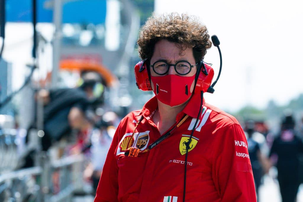 Ferrari-Teamchef Mattia Binotto, Spanien 2020. Credit: Ferrari