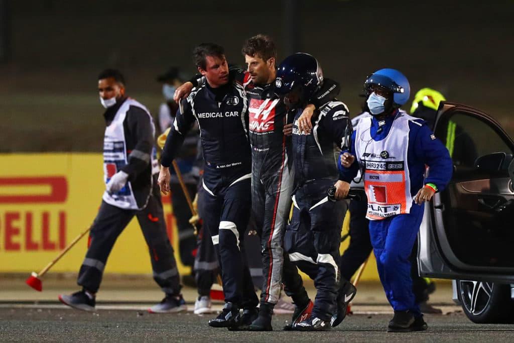 Grosjean-Unfall verbessert Formel-1-Sicherheit. Credit: F1-TV