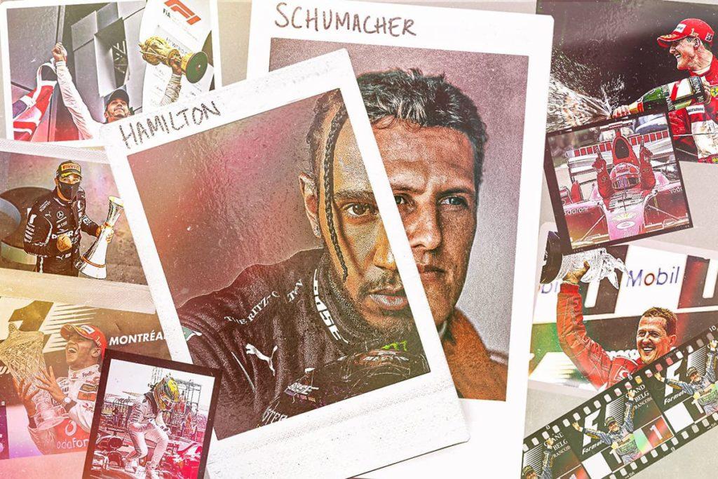Hamilton und Schumacher. Credit: F1