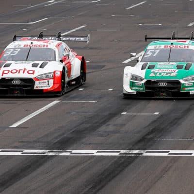 René Rast und Nico Müller Credit: Audi