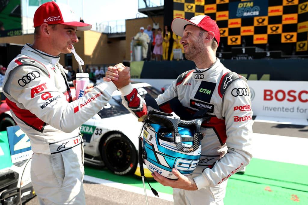 DTM René Rast und Nico Müller Credit: Audi