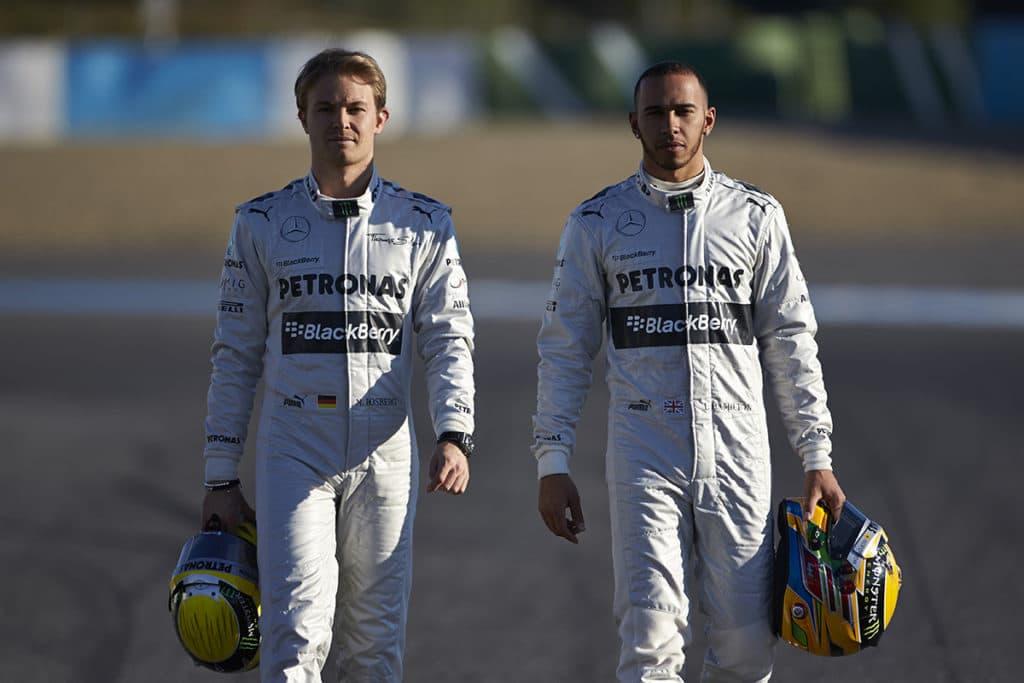Nico Rosberg und Lewis Hamilton Credit: Mercedes