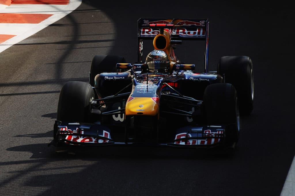 Sebastian Vettel 2010 in Abu Dhabi Credit: Red Bull Content Pool