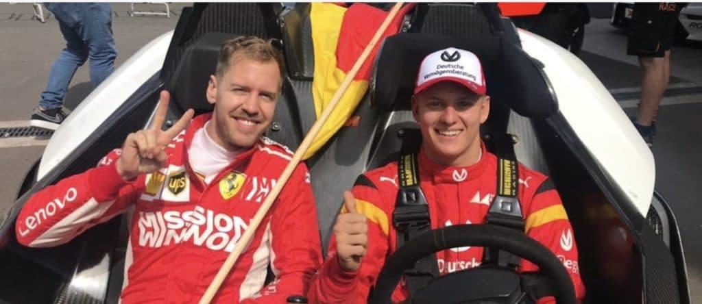 Schumacher und Vettel: Credit: Race of Champions