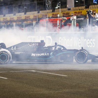 Lewis Hamilton in Abu Dhabi 2020. Credit: Mercedes/LAT