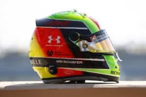 Mick Schumachers Helm Credit: LAT / Haas