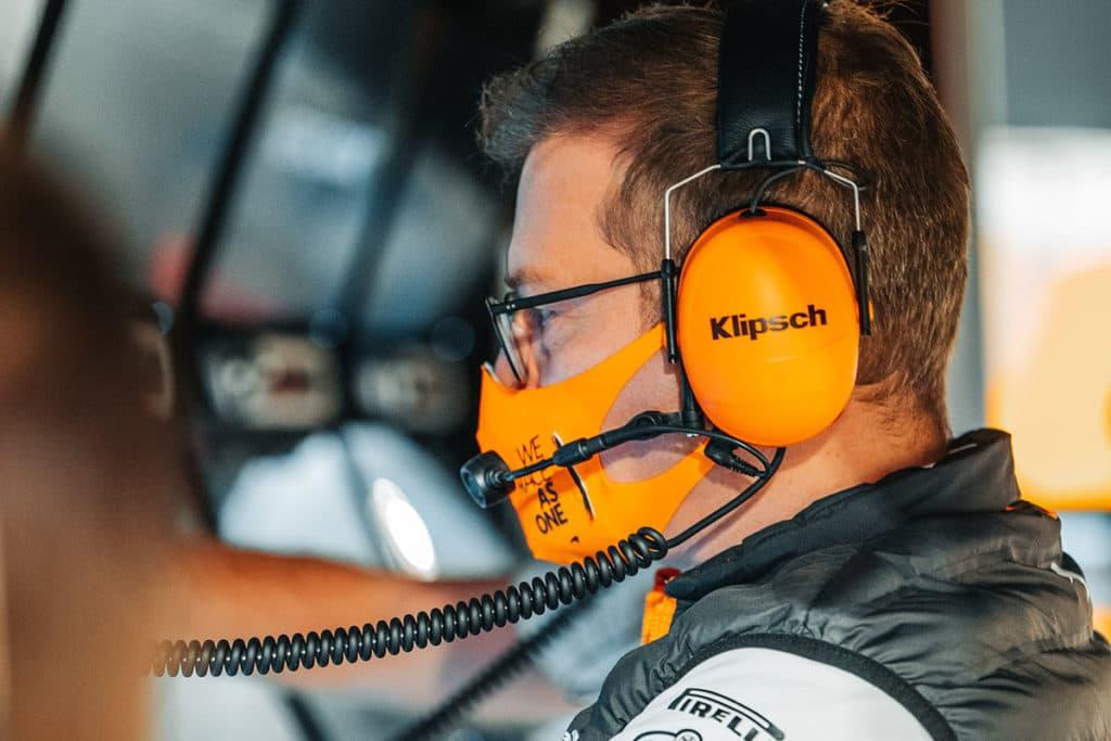McLaren-Teamchef Andreas Seidl. Credit: McLaren