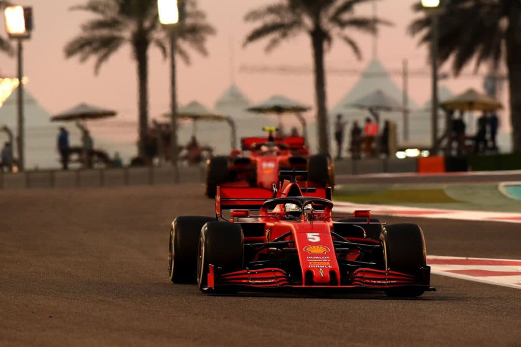Sebastian Vettel während des Abu Dhabi Grand Prix Credit: Ferrari