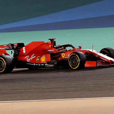 Vettel im Ferrari 2020. Credit: Ferrari