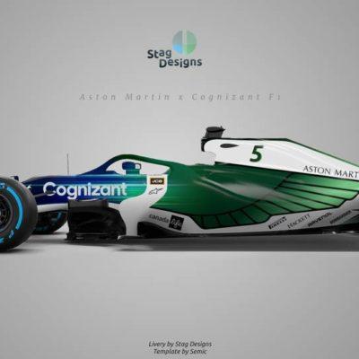 Aston Martin F1 2020 Design. Credit: Stag Designs