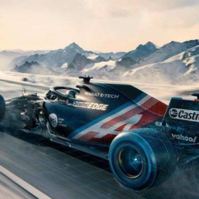 Alpine zeigt die Testlackierung für 2021; Credit: Alpine