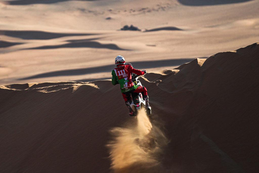 Die Rallye Dakar forderte ihr 70. Todesopfer. Pierre Cherpin ist auf der siebten Etappe mit dem Motorrad gestürzt. Credit: Dakar Rally/Twitter