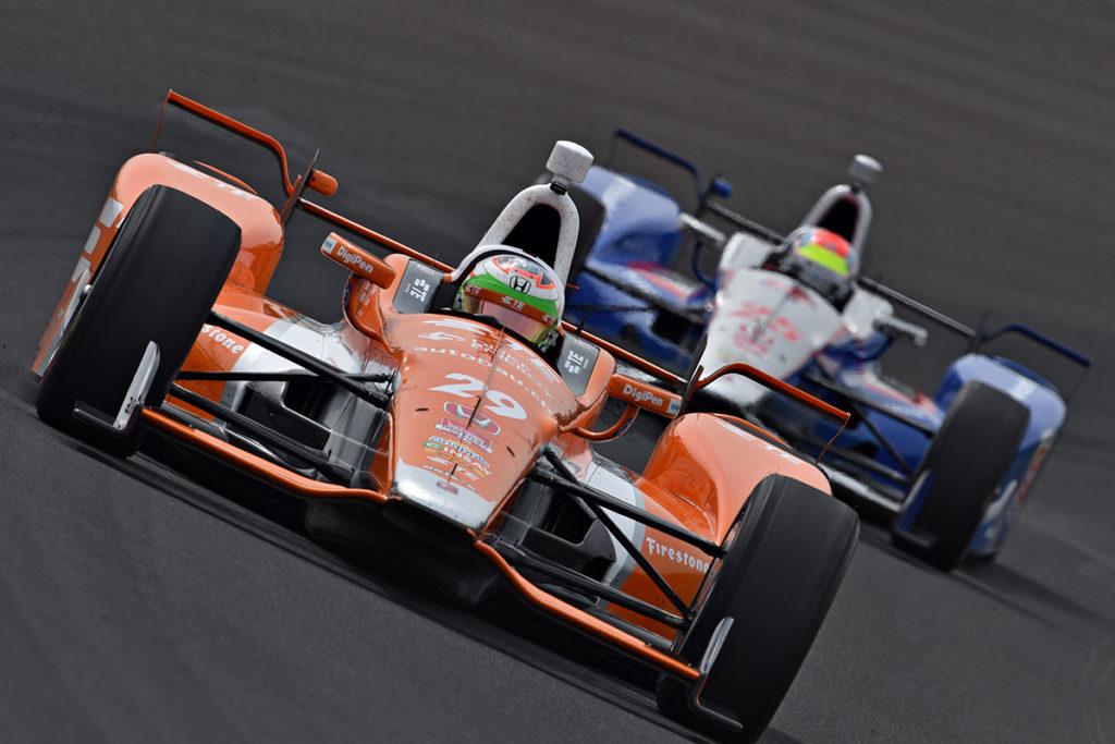 Simona de Silvestro bestreitet das Indy 500 für ein Frauenteam. Credit: Indycar