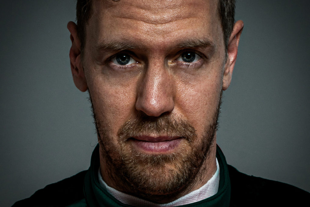 Sebastian Vettel in Aston-Martin-Green. Credit: Aston Martin F1 Team