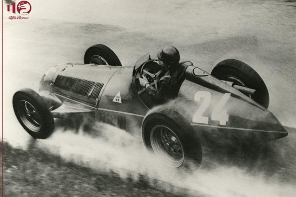 Juan Manuel Fangio im Alfa Romeo 159 1951 Credit: Alfa Romeo
