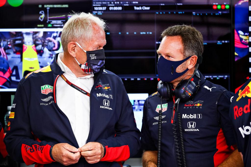 Helmut Marko, Christian Horner Credit: Red Bull Content Pool