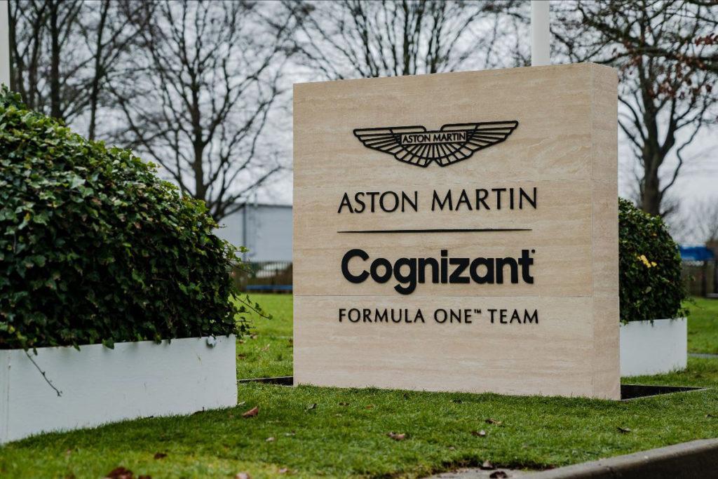 Aston Martin has a new title sponsor in Cognizant. Credit: Aston Martin F1 Team