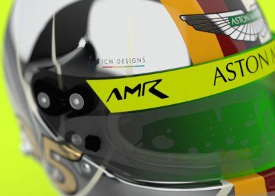 Studie zu Vettels Helmdesign bei Aston Martin. Credit: ICMDesigns