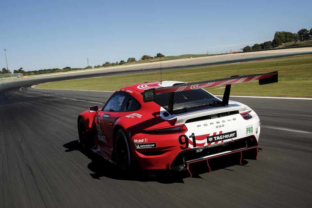 Mit dem Porsche 911 RSR fährt Porsche in der Langstrecken-WM und bei den 24 Stunden von Le Mans. Credit: Porsche