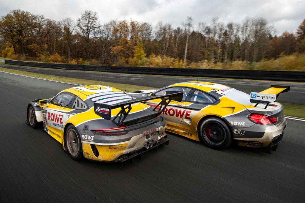 24h Sieger Porsche 911 GT3 R und BMW M6 GT3 Credit: ROWE