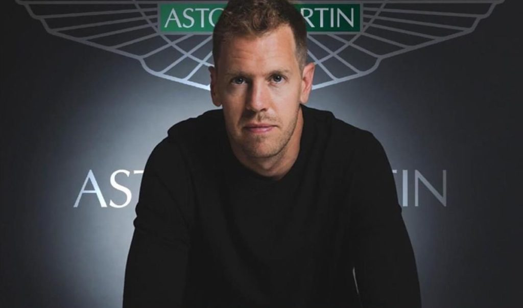 Sebastian Vettel Aston Martin 2021. Credit: Vettel/Aston Martin (Montage)