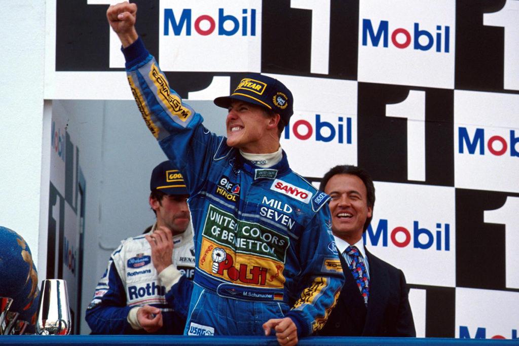 Michael Schumacher 1994 Credit: F1/Twitter