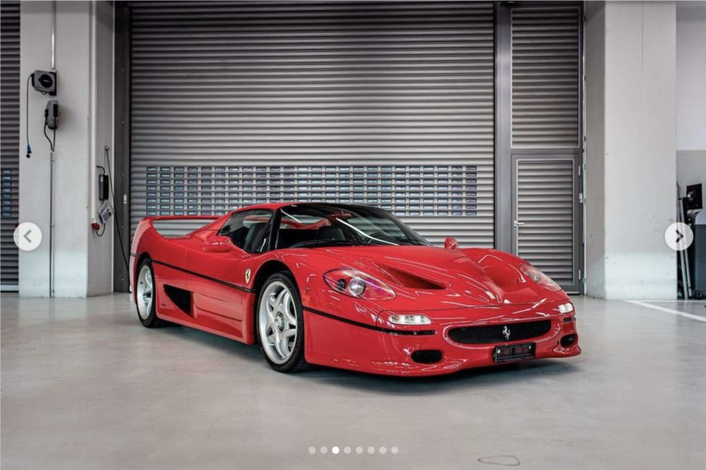 Vettels 1996 Ferrari F50. Credit: TomHartleyJunior/Instagram